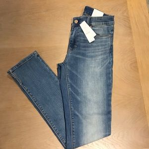 WHBM Mid-Rise Slim Light Wash jeans